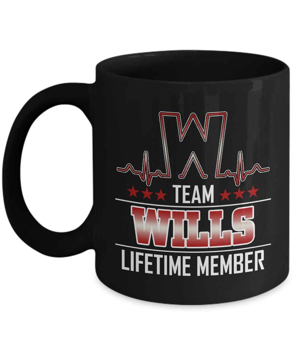 Customizable Mug With Name Is WILLS - Team WILLS Lifetime Member -  Funny gift