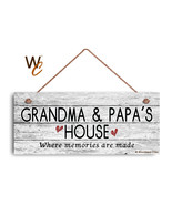 GRANDMA AND PAPA'S HOUSE Sign, Where Memories Are Made, Weathered 6x14 Sign - $17.33