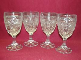 Set of Four (4) Crystal d'Adriana - LUNA Pattern - WINE GOBLETS - $37.95