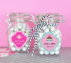 Personalized Theme Glass Swing Top Lid Jar Bridal Baby Party Wedding Fav... - $66.45+