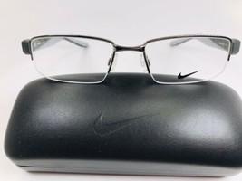 New NIKE 8170 068 Gunmetal & Grey Eyeglasses 55mm with NIKE Case - $89.05