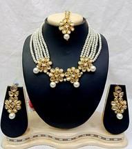 New Indian Crystal Pearl Kundan Wedding Fashion Jewelry Costume Necklace... - $49.99