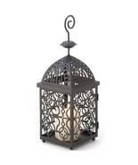 Moroccan Birdcage Black Metal Candle Lantern - $9.91
