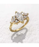2.8Ct Lab Marquise  Cut Engagement Ring 14kt Yellow Pleting 925 Starling Silver  - $120.00
