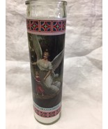 "Angel de la Guardia Guardian Angel 8"" Glass Candle New  - $9.90"
