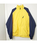 Polo Sport Ralph Lauren Mens Jacket XL VTG 90s Yellow Blue Nylon Light W... - $55.26