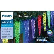 Philips Illuminate Add on Kit 25 Icicle Lights LED Multi Color App Contr... - $49.99
