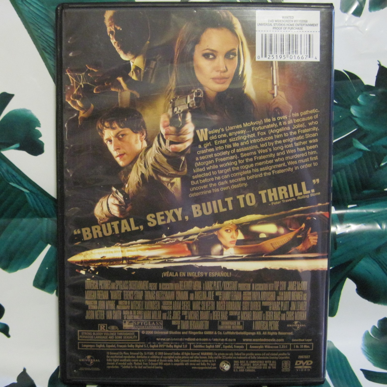 DVD Wanted James McAvoy Morgan Freemen Angelina Jolie Widescreen image 2