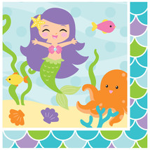 Mermaid Friends Lunch Napkins, Case of 192 - £32.14 GBP