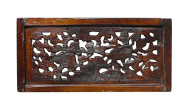 Chinese Antique Deers & Flowers Wooden Panel f981 - $395.00