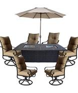 Cast Aluminum Patio Furniture Elisabeth 9 Piece Patio Dining Set Double... - $3,495.95