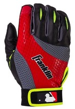 Franklin Sports 2nd Skinz Batting Gloves - Youth Large - Black/Red NEW P... - $12.94
