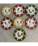 """7 Tabletops Gallery Daisy Rooster Multicolored 11"""" Rooster Dinner Plates - $49.49"""