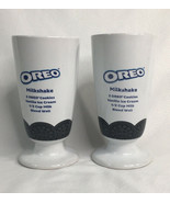 Oreo Cookies Milkshake Ceramic Glass With Recipie 12 oz Set Of 2 - $14.50