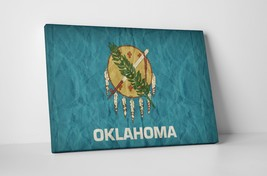 Vintage Oklahoma State Flag Gallery Wrapped Canvas Wall Art - $44.50+