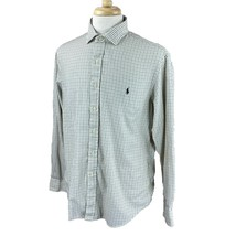 Ralph Lauren Polo Men's Slim Fit Long Sleeve Creme Black Gray Check Shirt XL - $24.74