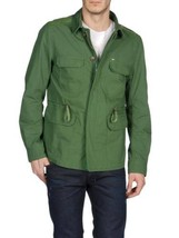 Diesel Jarmatocer Mens Military Army Green Lamb Elbow Patch Field Jacket... - $127.99
