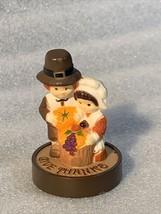 RARE Hallmark Thanksgiving 1976 Pilgrims Kneeling Give Thank Merry Minia... - $69.99