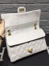 AUTHENTIC Chanel Classic 2.55 Reissue 226 Double Flap Bag Beige GHW image 4
