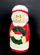 Mrs Santa Clause 10 inch Polyresin Looks Like Wood Statue Christmas Holi... - $19.79