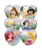 Disney FairyTale Princess Party Desserts Plates Heart Shaped 8 Per Packa... - $4.21