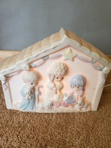 Precious Moments 1992 Porcelain Night Light, Nativity Scene Jesus Birth FS - $29.69