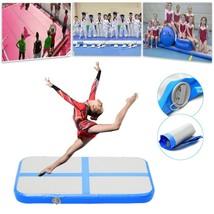 Inflatable Gymnastics Cheerleading Air Track Floor Tumbling Gym Mat 39x2... - $147.22