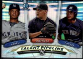 2018 Bowman Chrome Talent Pipeline - TP-NYY New York Yankees - Torres Abreu - $7.84