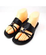 COLE HAAN black leather slip-on sandals NikeAir 7.5 B - $19.95