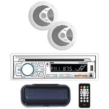 """Pyle(R) PLCDBT65MRW Marine Single-DIN In-Dash Cd AM/FM Receiver With Two 6.5"""" Sp - $118.99"""