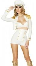 Roma Sultry Sailor Babe Costume Medium White Gold Womens Halloween Dress... - $62.99