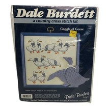 Vintage 1987 Dale Burdett Cross Stitch Kit Gaggle Of Geese CK661 NOS Sealed - $12.99