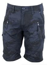 Armani Exchange AIX Utility Camouflage Zip Shorts, Navy BNWT $80 - $49.95