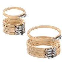 10pcs/set 8-30cm Wooden Embroidery Hoops Frame Set Bamboo Embroidery Hoo... - $20.26+