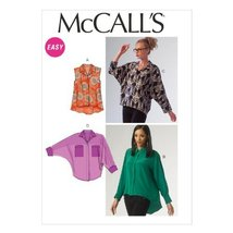 McCall Pattern Company M6840 Misses' Blouses Sewing Template, Size Y - $15.68