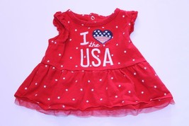 Infant/Baby Girls I Love the USA 6/9 Months Flag Dress Child of Mine - $9.49