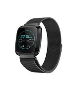 Smart Watch with Bluetooth Fitness Tracker Color Touch Screen Heart Rate... - $39.15