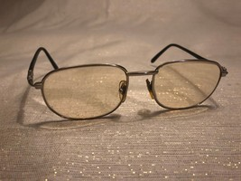 Fendi Glasses Vintage Silver Tone Black Rubber Prescription 140mm Italy - $197.99