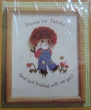 """Creative Circle Patience Boy Inspirational Shower Crewel Embroidery Kit 8"""" x 10"""" - $16.99"""