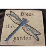 Cute Momentum Brand Molded Garden Wall Plaque - BLESS - VGC - PRETTY PLAQUE - $19.79