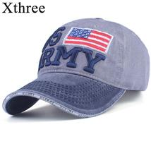 Army Hat 100% Washed Cotton Baseball Caps Men Summer Cap Embroidery Casq... - $15.93