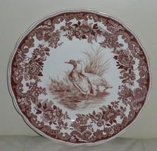 COPELAND SPODE ENGLAND GAME BIRD BROWN WILD DUCK #8 TRANSFERWARE DINNER ... - $56.00