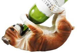 "Atlantic Collectibles British Bulldog Canine Dog 10.25"" Long Wine Bottle... - $425,39 MXN"
