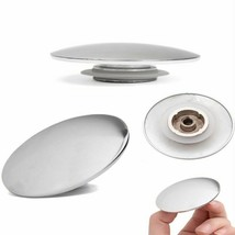 Basin Push Down Button Bathroom Sink Drain Filter Zinc Kitchen Strainer ... - $9.89
