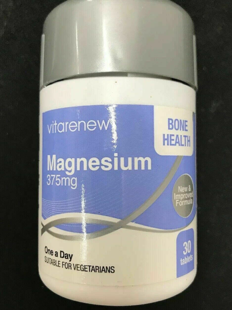 Magnesium 375mg - Unique One-A-Day magnesium Suitable For Vegetarian - $21.19