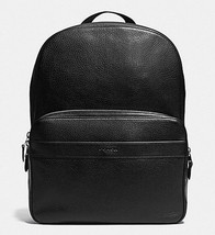 Coach Hamilton Backpack F 72082 In Pebble Leather  Black NWT - $182.16