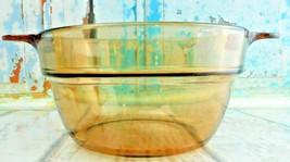 Corning Vision Ware V-20-B Amber Glass Double Boiler Insert Bowl France No Lid - $18.80