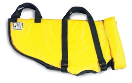 Fido Float Water Life Jacket For Dogs Medium Size w/ Handle Yellow New - $34.64