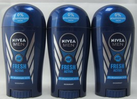 Nivea Men Fresh Active roll-on deodorant anti-perspirant 3 x 40ml- FREE ... - $29.69