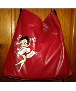 Betty Boop Tote Bag Shopper Shoulder Bag Red Purse Love Eternal Pre-owned - $16.00